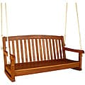 Royal Tahiti Yellow Balau Hardwood Two-seater Swing with Curved Back