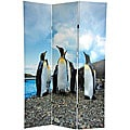 Canvas Penguins Double-sided 6-foot Room Divider (China)