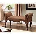 Brown Upholstered Hugo Bench