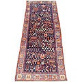 Persian Hand-knotted Wool Hamadan Runner (3'7 x 10'4)