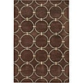 Hand-tufted 'Mandara' Brown Wool Rug (9' x 13')
