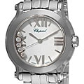 Chopard 278509-3002 Women's 'Happy Sport' Stainless Diamond Watch