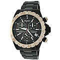 Roberto Bianci Men's Professional Commando Gold Bezel Chronograph Watch