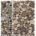 Alexa Hand-carved Stones and Pebbles Wool Rug (7'6 x 9'6)