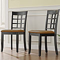 Wilmington Black Lattice Back Dining Chair (Set of 2)