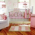 My Baby Sam Paisley Splash in Pink 4-piece Crib Bedding Set