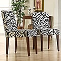 ETHAN HOME Calista Zebra Print Dining Chairs (Set of 2)