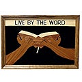 Wood Overlay 'Live By The Word' Wall Art (Ghana)