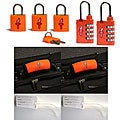 Global Orange TSA Locks with Orange Padlocks (Set of 2)