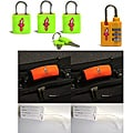 Safe Skies 4-piece Neon TSA Luggage Lock Set