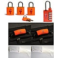 Safe Skies 4-piece Neon Orange TSA Luggage Lock Set