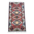 Indo Hand-knotted Kazak Red Wool Rug (2' x 4')