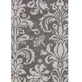 Hand-tufted Metro Foral Grey Wool Rug (8&#39; x 10&#39;)