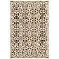 Safavieh Handmade Moroccan Cambridge Brown Wool Rug (4' x 6')