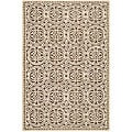 Safavieh Handmade Moroccan Cambridge Brown Wool Rug (6' x 9')