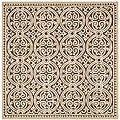 Safavieh Handmade Moroccan Cambridge Brown Wool Rug (8' Square)
