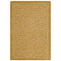 Safavieh Handmade Moroccan Cambridge Gold Wool Rug (2' x 3')