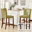 Tribecca Home Estonia Olive Green Upholstered Counter