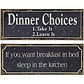 Set of 2 Americana Mom's Words of Wisdom Signs