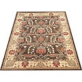 Indo Hand-tufted Mahal Brown Wool Rug (7&#39;8 x 9&#39;8)