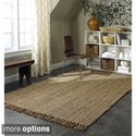 Handmade Eco Natural Fiber Chunky Loop Jute Rug (8&#39; x 10&#39;)