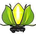 Silk Baby Blooming Lotus Green Table Lamp (Vietnam)