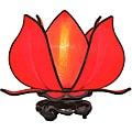 Silk Baby Blooming Lotus Red Table Lamp (Vietnam)