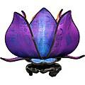 Silk Baby Blooming Lotus Jewel Table Lamp (Vietnam)