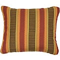 Autumn Stripe Knife-edge Outdoor Pillows with Sunbrella Fabric (Set of 2)