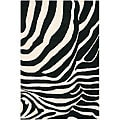 Hand-tufted Gammin Zebra New Zealand Wool Rug (5' x 7'6)