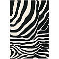 Hand-tufted Gammin Zebra New Zealand Wool Rug (5&#39; x 7&#39;6)