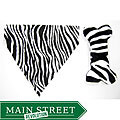 Ruff Stuff USA Zebra Print Dog Collar Bandana and Toy