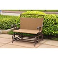 Valencia Resin Wicker/ Steel Frame Double Glider Chair