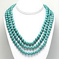 Dyed Magnesite Bead 60-inch Endless Necklace