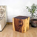 Wooden Cube 18 Oak Oil End Table (Thailand)
