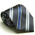 Platinum Ties Men's 'Blue Aluminum' Tie