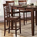 ETHAN HOME Moulins Asian Wood Dark Brown Chairs (Set of 2)