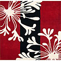 Hand-tufted Metro Classic Red/ Black Wool Rug (6' x 6')