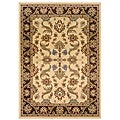 Indoor Cream Floral Rug (9' x 13')