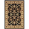 Indoor Black Floral Rug (9' x 13')