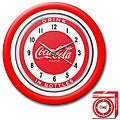 Coca-Cola 12-inch with White Neon 1950's Style Coke Clock