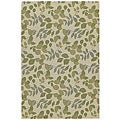 Home & Porch Indoor/ Outdoor Ivory Floral Rug (2' x 3')