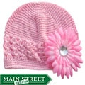 Bow Clippeez 2 Envy Pink Hat and Pink Flower Hairpiece