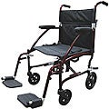 Drive Fly Lite Burgundy 19-inch Ultra Lightweight Transport Wheelchair