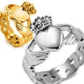 Stainless Steel Men's Celtic Eternity Claddagh Ring