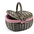 Nantucket Bicycle Co. Gray Wicker Quick-release Picnic Basket