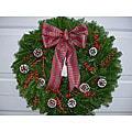 Winterberry 24-inch Fresh Balsam Wreath