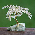 Brass 'Crystal Goddess' Gemstone Tree Sculpture (Brazil)