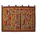 Wool 'Bird Forest' Wall Tapestry (Peru)