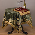 Applique Royal Velvet Square Table Topper 40 inches wide x 40 inches long
